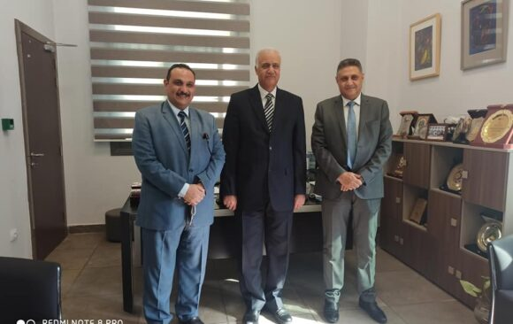 Prof. Dr.Essam Elkordi received today Dr .Nashaat Metry , Senator ,and Mr.Moheb Shafik , Secretary of the Union of Copts for the Homeland
