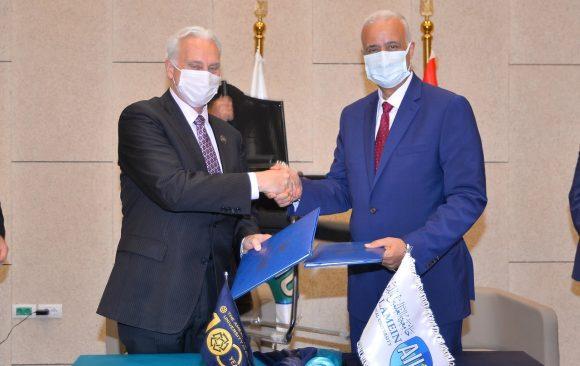Strategic partnership agreement between AlAlamein International University (AIU) & the American University in Cairo (AUC)