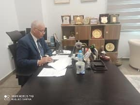 """Prof. Dr. Essam El-Kordi chaired a webinar entitled """"University Governance and Digitization in Time of Crisis"""" organized by (CONFREMO)"""
